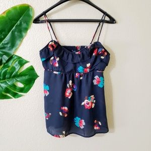 American Eagle Blue Floral Tank